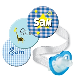 Personalized 3-Pack Blue JollyPop Combo