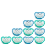 Photo of JollyPop Pacifier 10 Pack 0-3m Teal-Blue