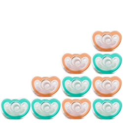 Photo of JollyPop Pacifier 10 Pack 0-3m Teal-Orange