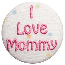 A-I Love Mommy Pink on Dots
