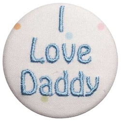 B-I Love Daddy Blue on Dots