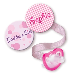 Personalized Pink Gingham and Daddys Girl Combo