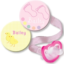 Personalized Chick & Baby Feet Pink Combo