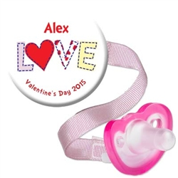 1. Personalized Valentine Combo Pink
