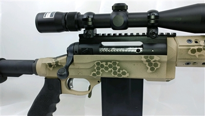 Modular Aluminum Smooth Chassis for Savage Rifle Build using AR-15 Buttstock, Pistol Grip, Handguard, & Accessories