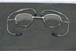 M17 Gas Mask Optical Insert, metal eyeglasses frame, NSN 6540-01-060-0611