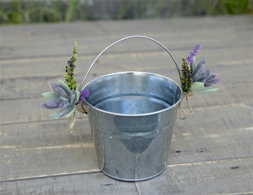 Flower Girl Boho Rustic Succulent Garden Wedding Basket - Your Colors!
