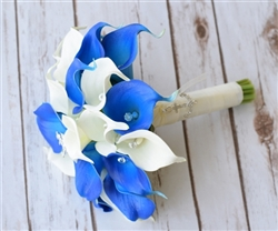 Natural Touch Blue Small Calla Lilies Bouquet