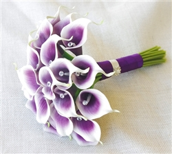 Natural Touch Purple Small Calla Lilies Bouquet