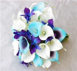 Natural Touch Tiffany Purple Calla Lilies Bouquet