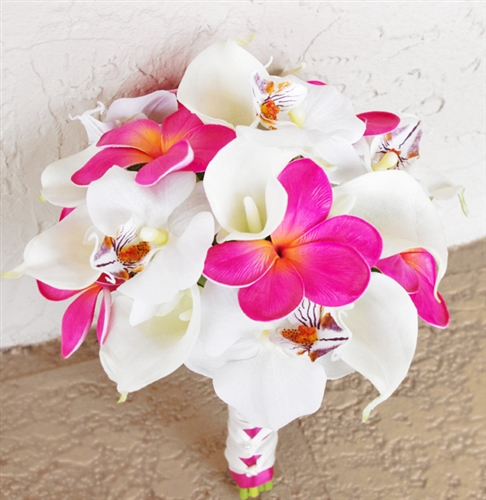 Callas & Fuchsia Orchids and Fillers Bouquet