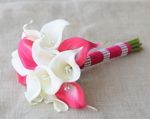Natural Touch Fuchsia Callas Bouquet
