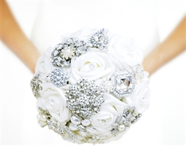 Brooch Jewel Wedding Bouquet, Jewel Bouquet, Bling Wedding Bouquet
