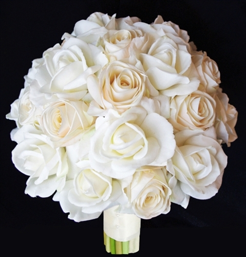Natural Touch Champagne Roses Bouquet