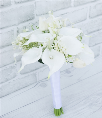 Natural Touch Silk Calla Lily Wedding Bouquet