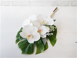 Real Touch Orchid Off White Wedding Tropical Bouquet