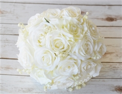 Ivory or White Roses Bouquet