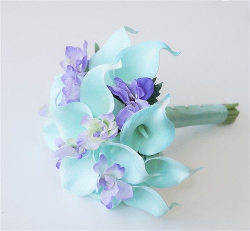 Natural Touch Tiffany & Lavender  Small Calla Lilies Bouquet