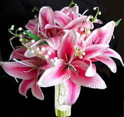 Natural Touch Pink Stargazer Bouquet