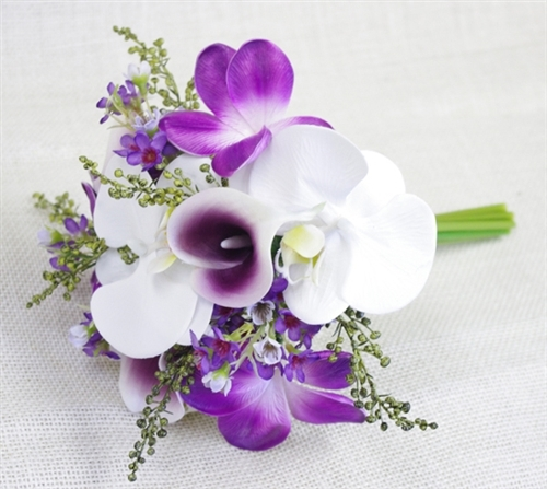 Natural Touch Purple Orchids Bouquet
