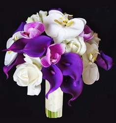 Natural Touch Purple Calla Lilies Bouquet