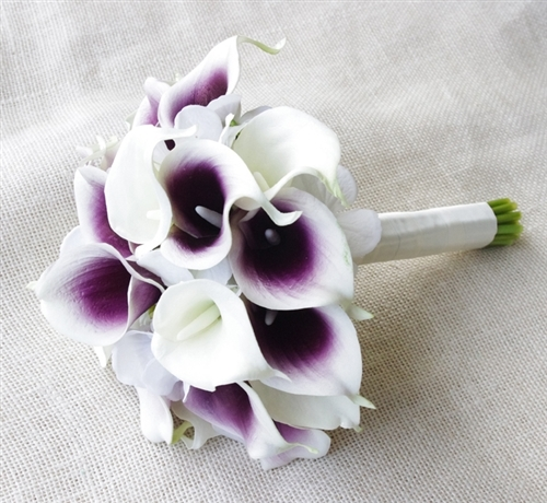 Natural Touch Purple Heart Picasso Callas and Hydrangeas