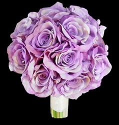 Natural Touch Lavender Roses Bouquet
