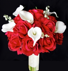 Natural Touch Red Rose & Callas Bouquet