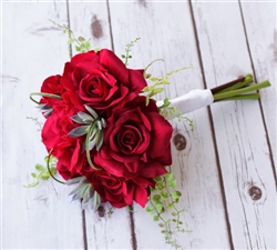 Silk  Red Rose Bouquet