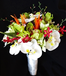 Natural Touch Lilies, Callas & Orchids Bouquet