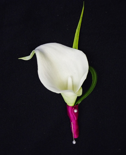 Natural Touch Calla Lily Boutonniere
