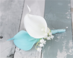 Real Touch Calla Lily Boutonniere in Any Color