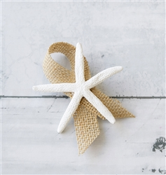 Starfish Beach Nautical Wedding Boutonniere - Seashell Wedding