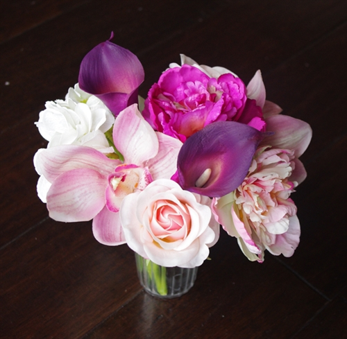 Natural Touch Lilies and Peonies Centerpiece - Your Colors!