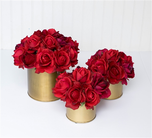 Real Touch Faux Roses Classic and Elegant Centerpiece Arrangement