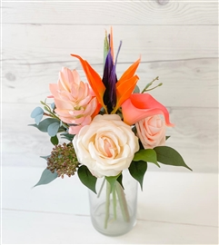 Ginger Torch and Bird of Paradise Tropical Chic Centerpiece Arrangement