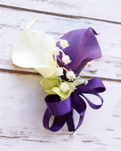 Real Touch Calla Lily Corsage in Any Color