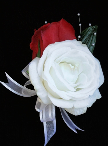 Real Touch Rose Silk Corsage in Any Color
