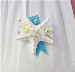 Real Touch Beach Starfish Seashells Corsage in Any Color