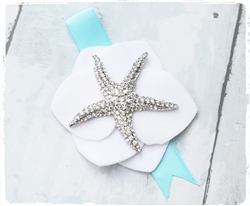 Beach Brooch Jewel Starfish Seashells Corsage in Any Color