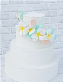 Natural Touch Callas and Plumerias Cake Topper - Your Colors!
