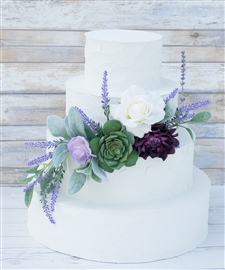 Succulent Boho Rustic Purple and Lavender Cake Topper Swag - Your Colors!