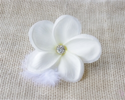Natural Touch Plumeria Frangipani Tropical Beach Hairpiece