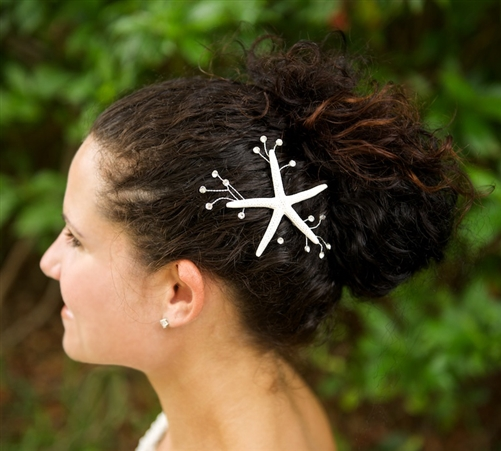 Starfish Hair Pin Clip Bride Bridesmaids Beach Wedding Party