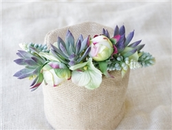 Hydrangeas, Peonies and Succulents Hair Wreath Halo - Perfect for Brides and Flower Girls