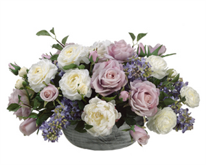 Roses & Wild Sprays Centerpiece - Your Colors!