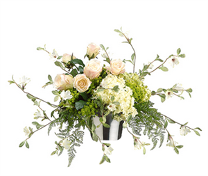 Peonies & Wild Rustic Sprays Centerpiece - Your Colors!