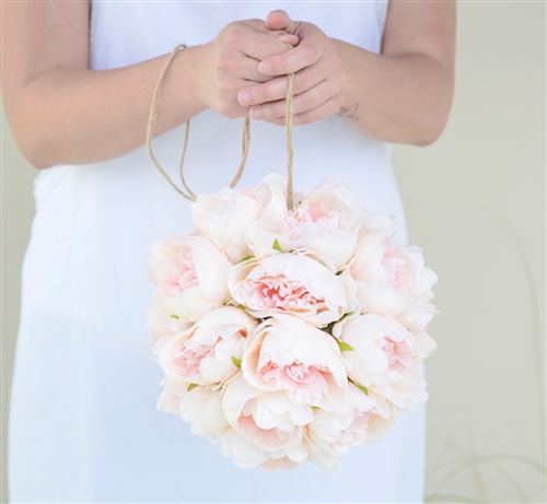 Flower Girl Peony Boho Rustic Flower Ball Pomander  - Your Colors!
