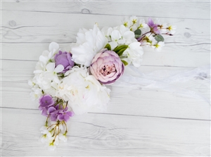 Wedding Arch Pew Peonies Tie Backs Flower Mix Real Touch Silk Corner or Sign Wedding Swag Arch