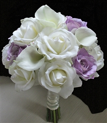 Purple Lavender NT Roses with Floramatique Callas